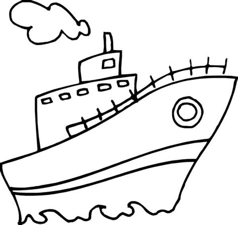 steamboat outline ship drawing easy at getdrawings free for personal
