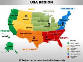 usa map south states usa south west region country editable powerpoint maps