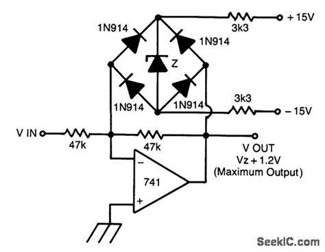 zener diode clipper circuit fast symmetrical zener clipper basic circuit circuit diagram seekic