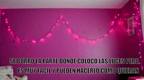 decora tu cuarto con luces decora tu habitacion con luces youtube