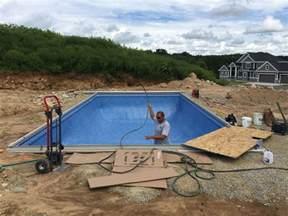 18x36 inground vinyl liner pool patio pleasures
