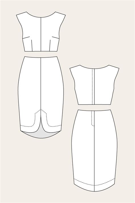 two piece pattern in casting named clothing 07 034 vanamo two piece cocktail dress
