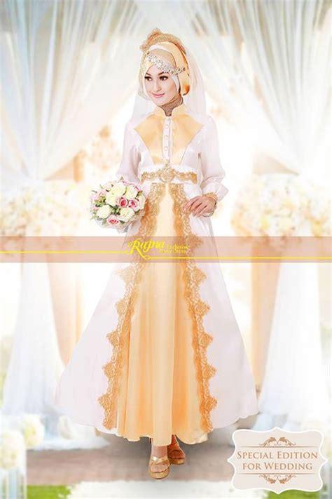 Gaun Pengantin Kode 560 rajna 11 white gold pusat busana gaun pesta muslim modern