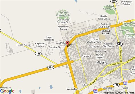map of midland texas and surrounding areas map of inn express hotel suites midland loop 250 midland