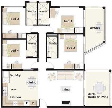 4 Bedroom Home Plans And Designs 4 Bedroom House House Floor Plans And Floor Plans On Pinterest