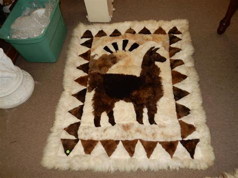llama skin rug llama hide rug