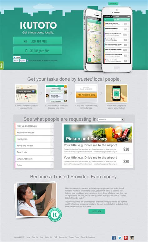 web app homepage design 15 beautiful mobile app websites for design inspiration
