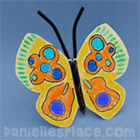 Butterfly Paper Craft - paper plate crafts for