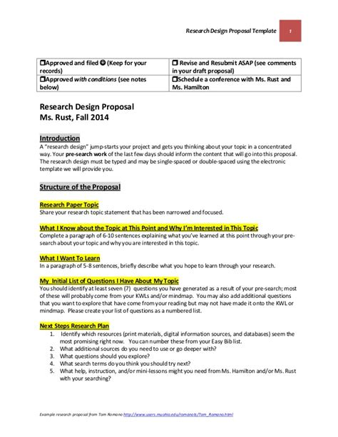 design research proposal template research design proposal template october 22 2014 final