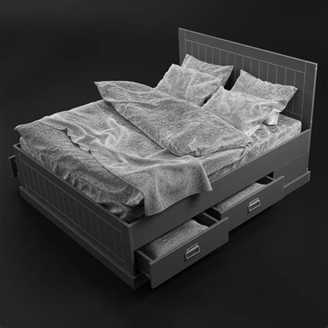 fjell bed 3dsmax fjell bed ikea
