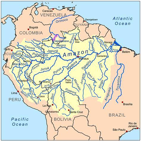south america map basin orinoco river map