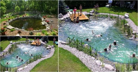 backyard swimming pond magical outdoor diy how make an all swimming pond