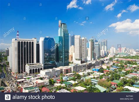 Manila Philippines Search Business District Makati Manila Philippines Stock Photo Royalty Free Image