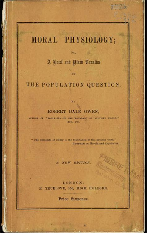 the moral physiology a treatise on popular questions or means devised to check pregnancy classic reprint books robert dale owen moral physiology