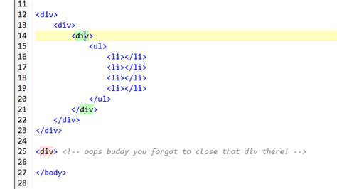 div html code can vim highlight matching html tags like notepad