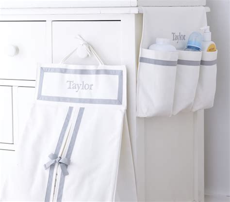 changing table hanging caddy changing table runner pottery barn