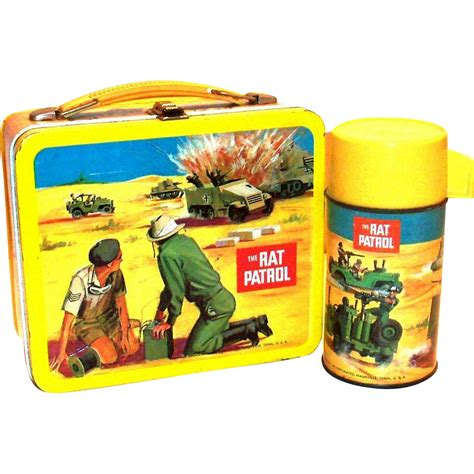 Lunch Box Series vintage 1967 the rat patrol tv series metal lunch box thermos from theantiquechasers on ruby