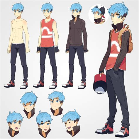pokemon trainer girl creator azria reference sheet by zerudez on deviantart