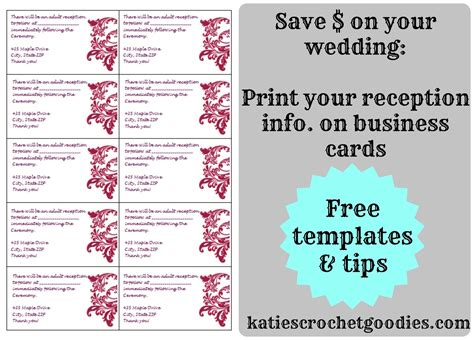 wedding drink voucher double sided standard business cards