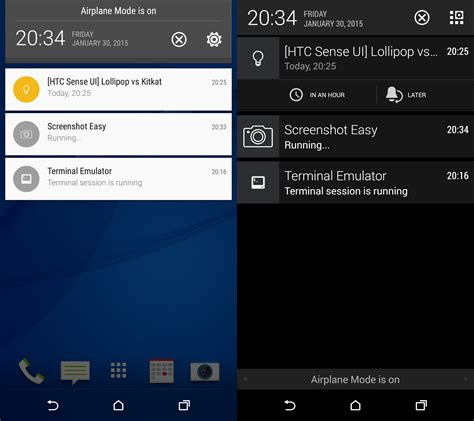 android pull menu android revolution mobile device technologies htc sense 6 0 ui lollipop vs kitkat comparison