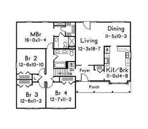 1 level house plans beautiful 4 bedroom split level floor plans with bedroom