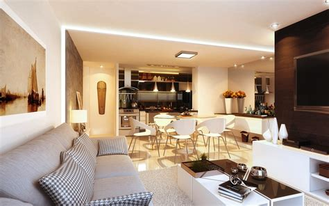 Open Living Room Ideas | 23 open concept apartment interiors for inspiration