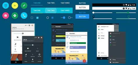 layout used in android design android material design ui kit free download