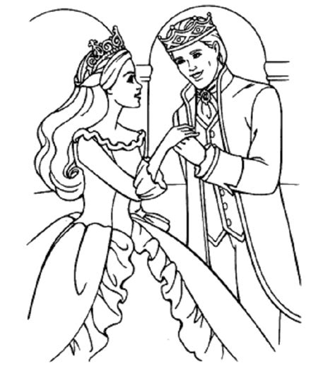 Wedding Coloring Princess And Prince Coloring Pages