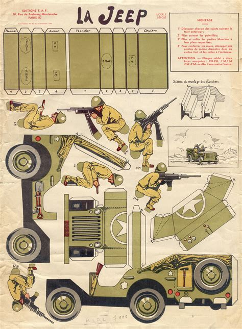Papercraft Models - papercraft template from 1944 ewillys
