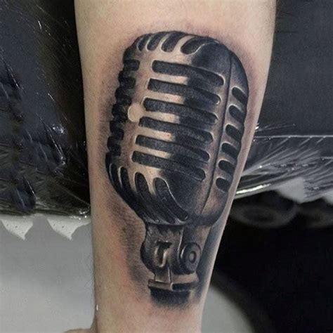 tattoo old school microphone 90 microphone tattoo designs for men manly vocal ink