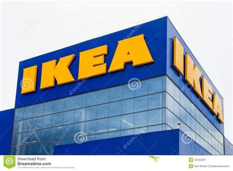 ikea company ikea store exterior editorial photo image 42155301