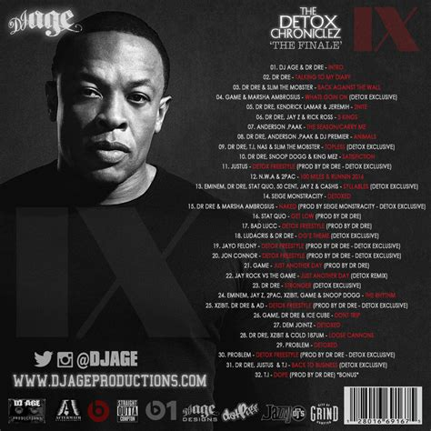 Dr Dre Detox by Dj Age Dj Age Presents Dr Dre The Detox Chroniclez Vol 9