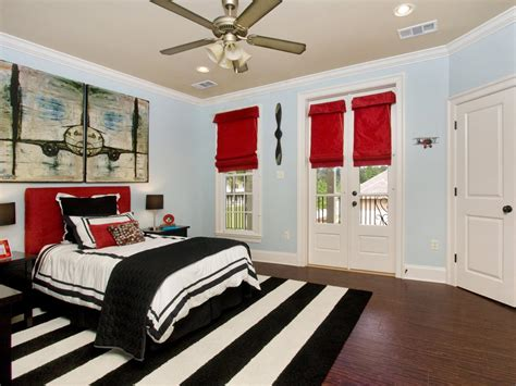 black white and red bedroom ideas focus on stripes fun decorating ideas from hgtv fans