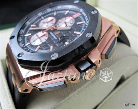 Audemars Piguet Roo Black Silver audemars piguet royal oak offshore gold 44mm