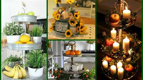 tiered tray decorating ideas rustic home decor