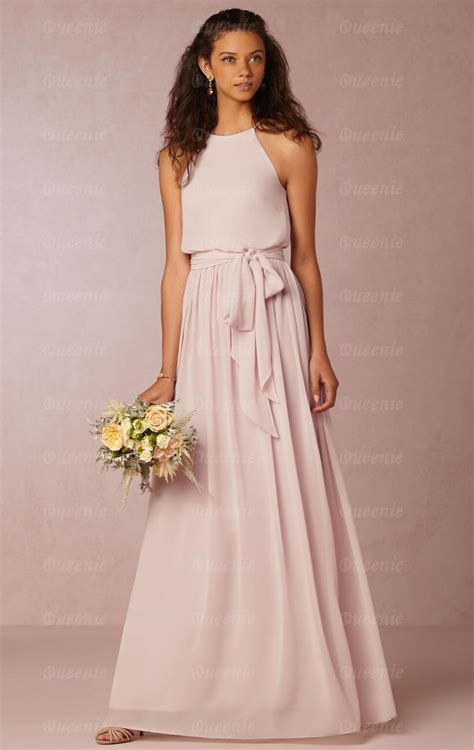 Online Long Pink Bridesmaid Dress BNNEE0006 Bridesmaid UK