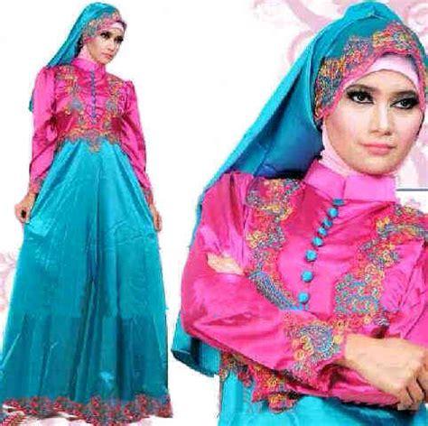 Busana Muslim Princess Magenta baju gamis pesta satin princess magenta s63 busana muslim pesta bahan saten