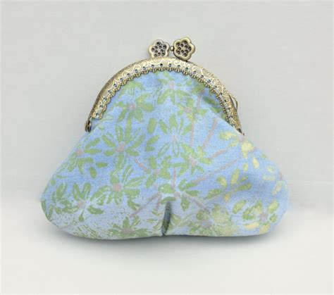 Handmade Coin Purses - blue coin purse small blue handmade coin purse floral small