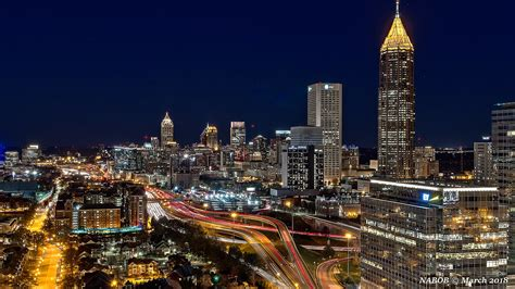 atlanta ga midtown skyline viewed   south flickr