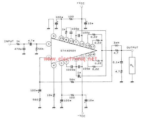 Power Lifier Stk typical transistor lifier schematic rf lifier