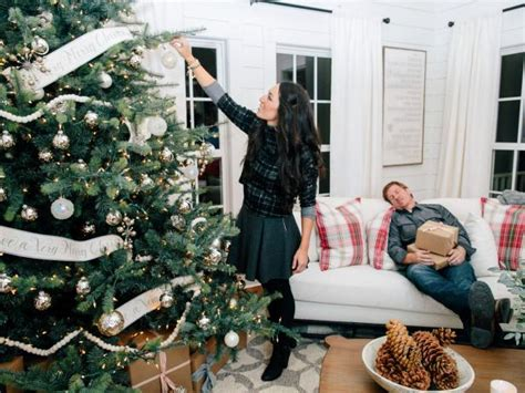 Decorated Christmas Trees For Sale by Joanna Gaines Farmhouse Christmas Decor Is Cheery And