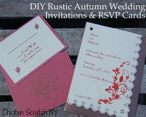 how much to charge for handmade wedding invitations diy autumn wedding invitations