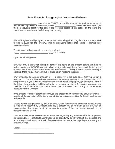 Sle Loan Documents by Broker Agreement Template 28 Images Sle Business Loan Agreement 6 Free Documents Sle Agency