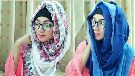 hijab style  glasses  covering chest pari zaad