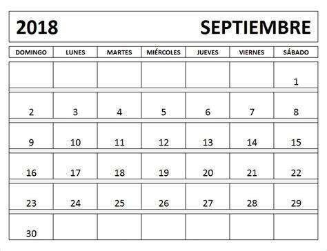 Calendario Word 2018 Calendario Septiembre 2018 Para Imprimir Pdf Excel Word