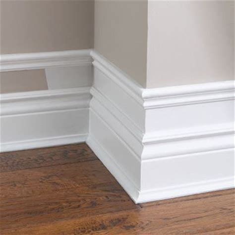 Make your baseboard more dramatic add small pieces of