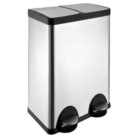 2 Section Kitchen Bin by Buy 60l Stainless Steel Recycling Pedal Bin With Two