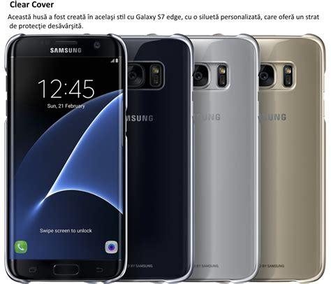 Clear Samsung Galaxy S7 Edge S7 Edge Bening husa clear cover black pentru samsung galaxy s7 edge g935