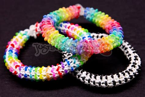 how to make a rainbow loom hexadots bracelet switch loop