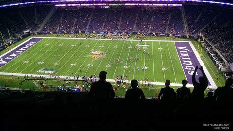section 11 football u s bank stadium section 339 rateyourseats com
